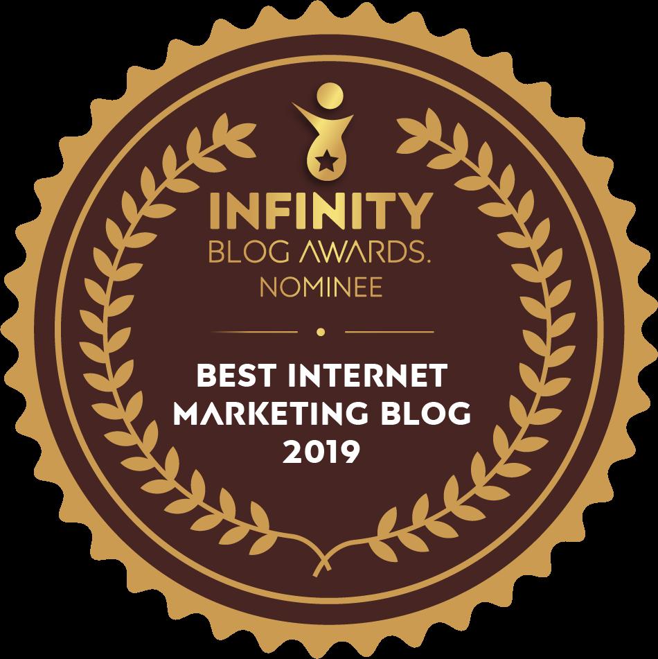 Best Internet Marketing Blog Nominee badge