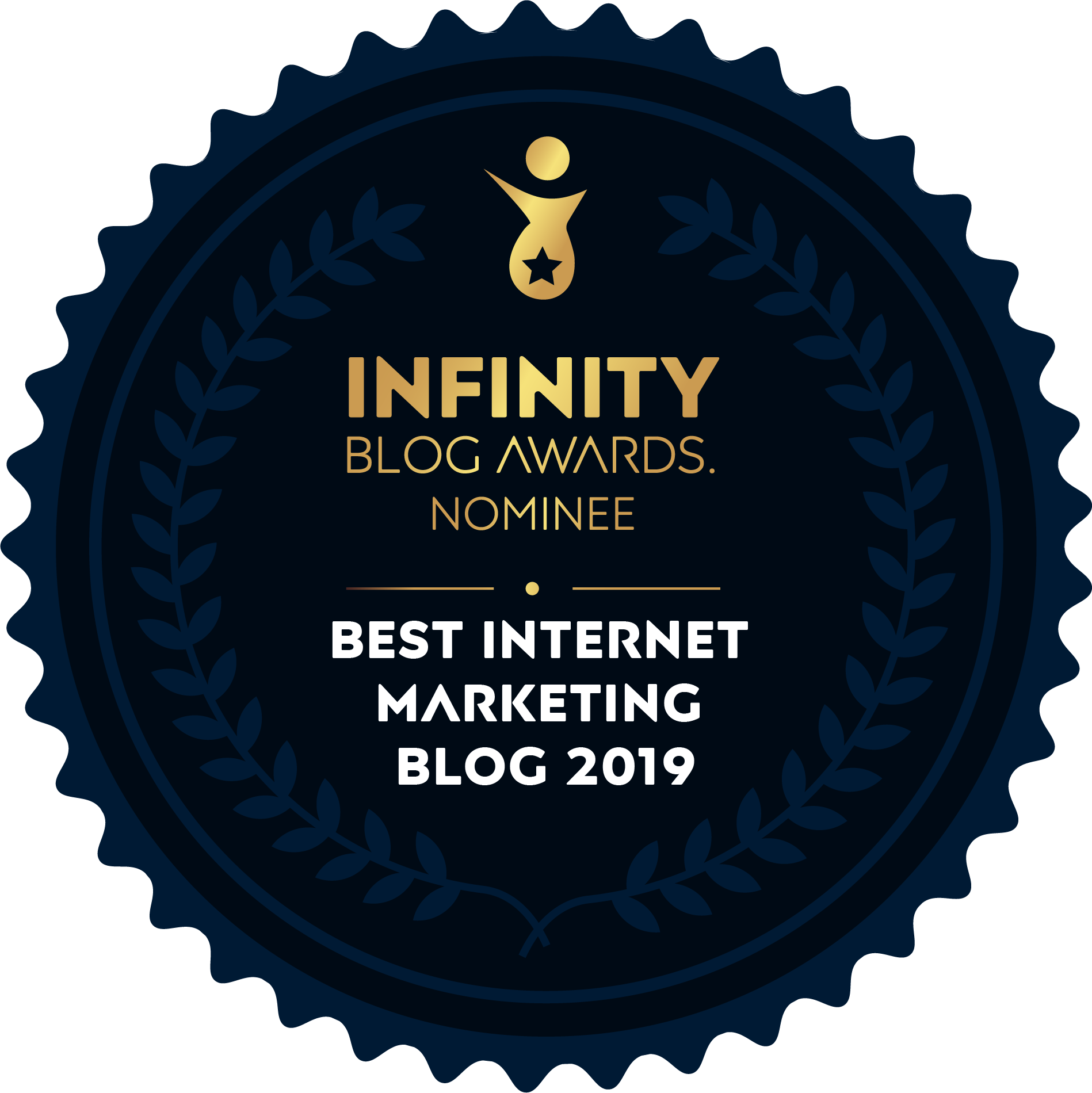 Best Internet Marketing Blog 2019 Nominee badge