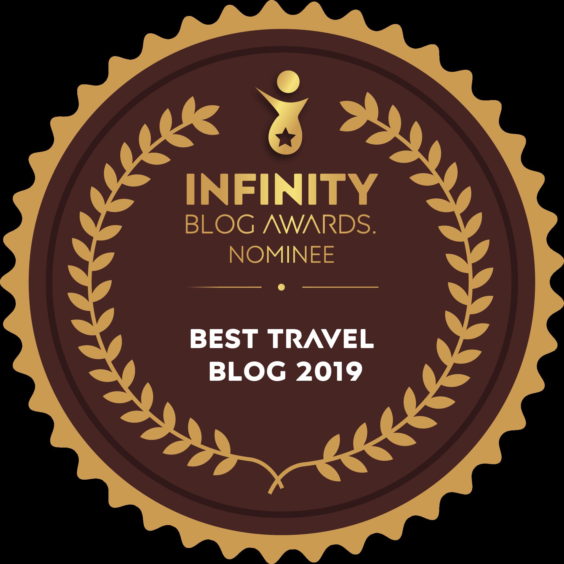 Best Travel Blog 2019 Nominee Badge
